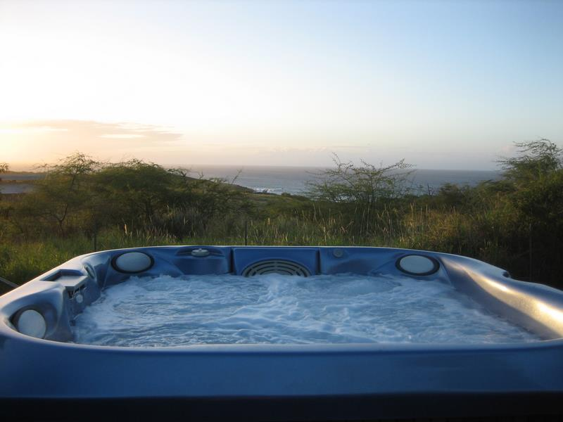 Jacuzzi with View of Pacific Ocean